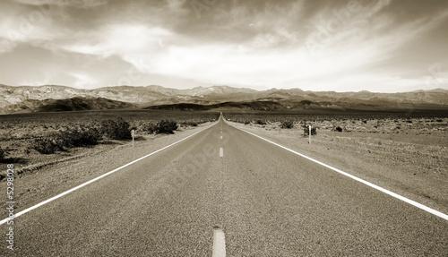 Empty californian highway through the desert - 5298028