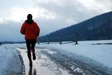 Fototapety winter morning running