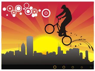deportes extremos cicla en vector