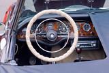 convertible sports car detail poster