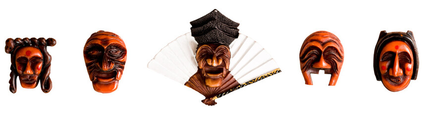 Traditional Korean Mask in a frame