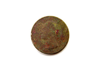 Rusty Brown US Quarter Coin