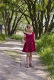Rural girl looking away