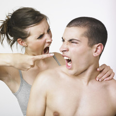 Arguing young couple