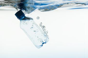 Blue Bottle in Water
