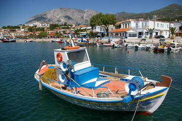 Fishing Boat in Marathokambos, Samos, Greece