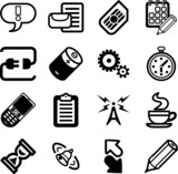 Mobile Phone Applications GUI Icon Series Set poster