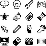 Applications Icon series set poster