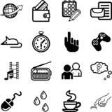 Computer application and media Icon set poster