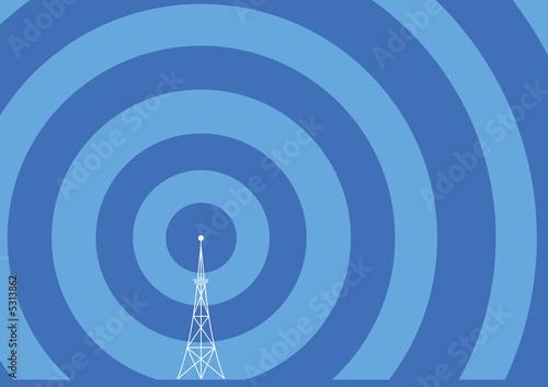 broadcast tower illustration