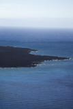 Lava rock coastline. poster