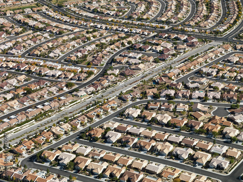 Urban housing sprawl.