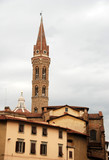 Traditional architecture in Florence Italy poster