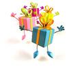 Cadeaux sautent de joie