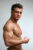 Flexing Biceps poster
