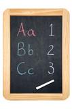 ABC/123 blackboard poster
