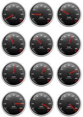 Collection de compteurs de vitesse (Kilomètre par heure)