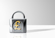 Padlock with Pound Sterling Symbol