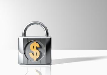 Padlock with Dollar Symbol