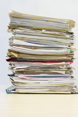 Stack of Files on desk