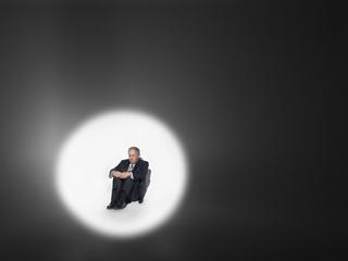 Businessman Under the Spotlight