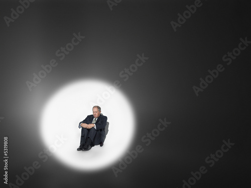 Businessman Under the Spotlight