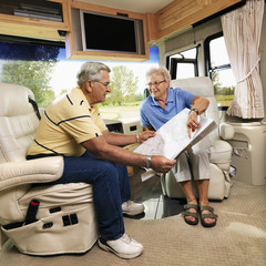 Senior couple in RV.