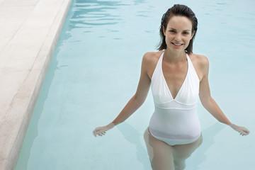 Woman Enjoying a Swim
