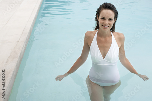Woman Enjoying a Swim