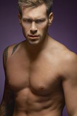 Semi naked man, portrait