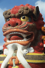 Asian statue of lion