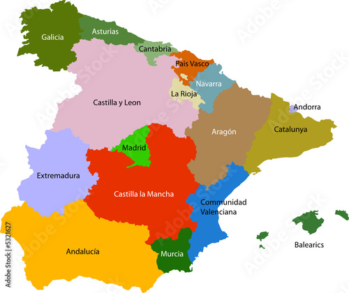 poster of Spain Political Map