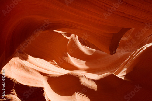 Stone flames in famous Antelope Canyon, Arizona, USA