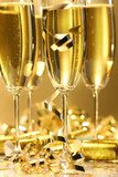 Golden champagne sparkle poster