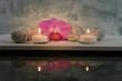 2 Kerzen mit Spiegelung