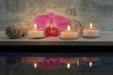 3 Kerzen mit Spiegelung - 5324868