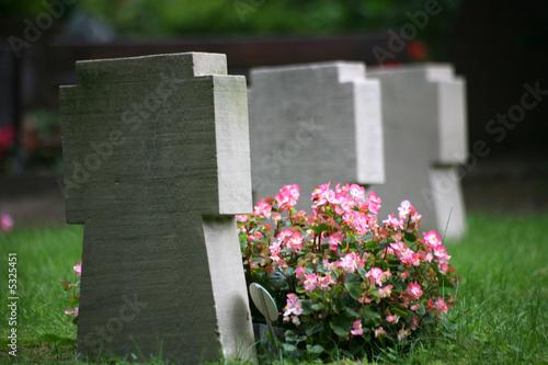 Leinwanddruck Bild Soldatenfriedhof
