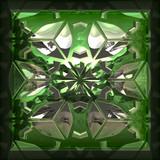Green precious stone poster