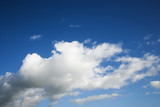 Cumulus cloud formation in blue sky. poster
