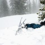 Ski accident. poster