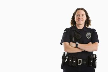 Smiling Policewoman.