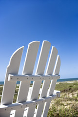 Chair on beach.