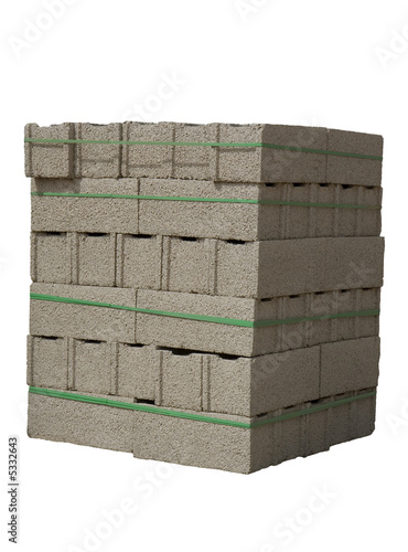 Cinder blocks ( concrete masonry units )
