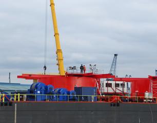 Hafenarbeiten, Dock, Entladung