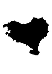 vector map of basque country