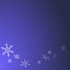 Fond bleu abstrait pour l'hiver