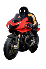 motobike with man in leathers