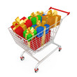 Computer generated image - Shopping Cart With Presents .