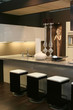 living part of modern kitchen