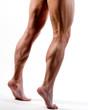 Beine von Mann beim springen